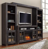 Dallas Entertainment Center with Fireplace Insert Black in room