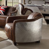 Malcolm Leather and Aluminum Aviator Chair Room