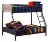 Battery Park Black Steel Twin over Full Metal Bunk Beds