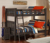 Nielsen Distressed Espresso Bunk Beds full over full size in room