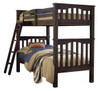 Nielsen Distressed Espresso Bunk Beds twin over twin size