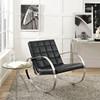 Meridian Vegan Leather Lounge Chair Room