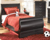 Arturo Twin Size Sleigh Bed Room