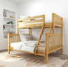 Bennett Natural Twin over Queen Bunk Bed Angled View Room