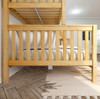 Bennett Natural Twin over Queen Bunk Bed Side View Room