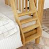Bennett Natural Twin over Queen Bunk Bed Ladder Detail Room