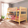 Bennett Natural Full over Queen Bunk Bed Angled View Room