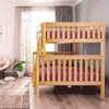 Bennett Natural Full over Queen Bunk Bed Side View Room
