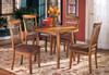 Larson Oak 5 Piece Round Dining Set Room