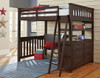 Nielsen Distressed Espresso Loft Bed with Storage full in room