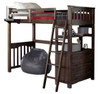 Nielsen Distressed Espresso Loft Bed with Storage twin size