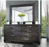 Lopez Espresso 6 Drawer Dresser shown with Optional Mirror Room