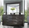 Lopez Espresso Horizontal Mirror shown with Optional Dresser Room
