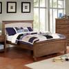 Powell Full Size Fabric Bed Dark Oak Room