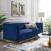 Pickwick Vertical Channel Tufted Performance Velvet Sofa Room