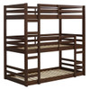 Eldon Walnut Twin 3 Bed Bunk Bed left angle view