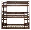 Eldon Walnut Twin 3 Bed Bunk Bed front view