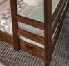Eldon Walnut Twin 3 Bed Bunk Bed right ladder detail