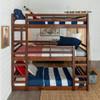 Eldon Walnut Twin 3 Bed Bunk Bed in room