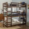 Eldon Walnut Twin 3 Bed Bunk Bed in room 3