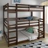 Eldon Walnut Twin 3 Bed Bunk Bed in room 4