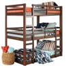 Eldon Walnut Twin 3 Bed Bunk Bed