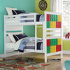 Rio White Building Block Twin Size Bunk Beds Room View