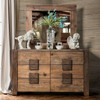 North Lake Six Drawer Dresser shown with Optional Mirror