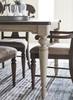 Westport Weathered White Farmhouse Kitchen Table Leg Detail