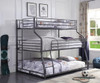 Kani Metal Twin XL over Full XL over Queen 3 Bed Bunk Bed Room