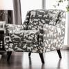 Barkley Gray Dog Pring Fabric Chair Room