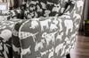 Barkley Gray Dog Pring Fabric Chair Detail