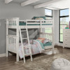 Iris Brushed White Bunk Beds twin over twin in room
