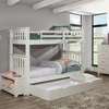 Iris Brushed White Bunk Beds twin over twin with trundle in room