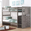 Barr Gray Twin Bunk Bed with Stairs Room