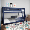 Brody Blue Low Bunk Beds for Kids shown with 2 Optional Bottom Bunk Safety Rails
