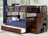 Ogden Walnut Bunk Bed with Stairs Full over Full with trundle