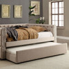 Sydney Daybed Beige with trundle out closeup