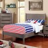 Gunnar Grey Platform Bed Full lifestyle
