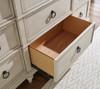 Westport Weathered White Farmhouse Dresser Bottom Drawer Detail