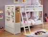 Waverley White Twin Bunk Bed with Chest