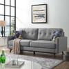 Bolton Light Grey Mid Century Tufted Back Sofa Room