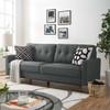 Bolton Dark Grey Mid Century Tufted Back Sofa Room