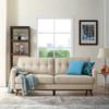 Bolton Beige Mid Century Tufted Back Sofa Room