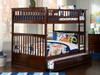 Fernando Walnut Bunk Beds full over full with trundle