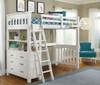 Iris Brushed White Loft Bed with Storage twin lifestyle