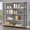 Adam Weathered Gray Large Bookcase lifestyle