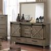 Halloway Door Drawer Dresser Grey lifestyle