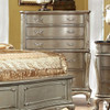 Teagan Five Drawer Chest Gold in room