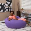 Purple Bean Bag Chairs for Teens with Teen Room